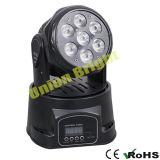 Mini bewegliches helles /LED mini bewegliches Haupthauptlicht LED-7X10W 4 in-1 Rgwb