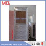 Porte de salle de bains de PVC en verre givré