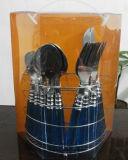 Buntes Tischbesteck-Set des Edelstahl-24PCS mit Plastikgriff