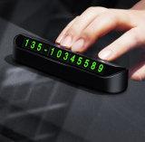 Plaat van de Kaart van het Aantal van de Telefoon van het Parkeren van de auto de Tijdelijke Kaart Verborgen Mobiele met Kleefstof voor het Dashboard van de Auto
