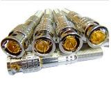 Full Copper Screw CCTV Video Acessórios BNC Male Connector