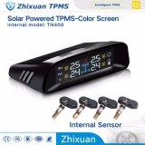 無線カラースクリーンのタイヤ空気圧の監視システム太陽USBの料金4internalセンサーTPMS
