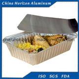 Bandeja disponible y ambiental del papel de aluminio para la hornada