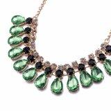 Halsband van de Vorm van het Water van het Kristal van de Halsband van het Kristal van de Vrouwen van de Steen van het glas de Groene