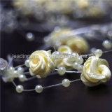 White Rose et Pearl AA Batterie Operated Blanc Chaud Fée Lumière pour la décoration de mariage