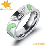 Exsr82A The Color Enamels Stainless Steel Fashion Rings