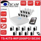 8CH 1080p HD Wireless WiFi сетевой видеорегистратор комплекты Bullet IP-камера