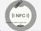 Autocolantes transparentes RFID / NFC Anti Metal Etiquetas regraváveis Ntag215 Uid Cartões de identidade inteligentes intercambiáveis