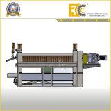 2 ejes placa hidráulica Máquina laminadora para hacer el motor Shell
