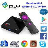 2017 le cadre Pendoo mini Rk3328 1GB 8GB Media Player de l'androïde le plus neuf TV avec du SYSTÈME D'EXPLOITATION de l'androïde 7.1