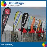 安い広告スポーツ・イベントの飛行の旗の涙