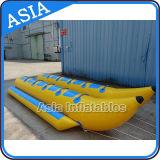 Barca di banana gonfiabile dell'acqua del galleggiante delle doppie persone di riga 10 con 2 tubi da vendere
