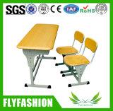 Escritorio determinado y silla de la escuela del escritorio doble simple de la sala de clase fijados (SF-26D)