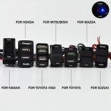 Специальный 5V 2.1A интерфейс USB разъем автомобильное зарядное устройство и с помощью вольтметра для Mitsubishi