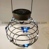 Wasserdichte romantische leuchtkäfer-elastische Metalllaterne-dekorative im Freienlichter des Gummiband-LED Solar