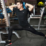 Camicia e Legging di compressione delle calzamaglia della tuta sportiva degli uomini