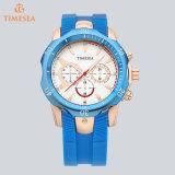 Het Horloge van het Kwarts van het silicone met Fantastische Kleuren en Weerstand van het Water 72366
