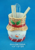Supporto di ceramica dipinto a mano dell'utensile con il disegno della Santa
