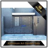 Diseño de aluminio de la puerta de la entrada principal del panel del corte del laser para el chalet