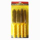Herramientas del sistema de cepillo de alambre mango de plástico de uso intensivo industrial