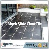 Ardesia nera naturale che pavimenta le grandi mattonelle dell'ardesia per la decorazione esterna