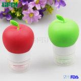 Bottiglia portatile dell'estetica del silicone bottiglia a forma di rossa/verde del Apple Packaginb