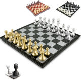 Venda a quente OEM magnético dobrável jogo de tabuleiro de xadrez em madeira