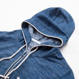 Hommes Habillement Fabricant Chine Drawstring Hood Long Sleeve Zip up Hommes Hoodies
