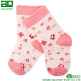 Nette Baby-Rosa-gestrickte Baumwollkundenspezifische Baby-Großhandelssocken