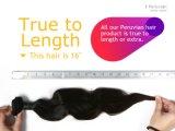 Черный корпус кривой человеческого волоса Перу