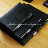 Classeur à anneaux en cuir Journal magnétique Ordre du jour des ordinateurs portables