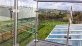 Inferriata di vetro resistente del balcone dell'acciaio inossidabile con alberino rotondo/quadrato dell'acciaio inossidabile