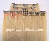 Grampo de cabelo humano na presilha de cabelo no barbeiro acenando Extensão (PPG-L-0084)