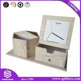 Het de houten Houder van de Pen van het Karton van het Document van de Textuur en Vakje van de Lade van de Foto