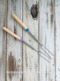 스테인리스 망원경 솜사탕 BBQ 포크 빛 경편한 마시맬로 굽기 지팡이