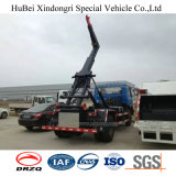 12cbm Dongfeng 졸작 콘테이너 Wastebin 유로 4 훅 팔 드는 쓰레기 트럭
