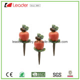 Polyresin Mini Watermelon Figurine pote Stakes para la decoración del hogar y jardín