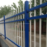 亜鉛鋼鉄塀か電流を通された鋼鉄塀