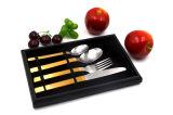 Silver Gold de haute qualité de la vaisselle set de vaisselle en acier inoxydable en vrac
