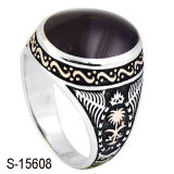 Anelli musulmani d'argento dello smalto dell'anello dell'uomo del nuovo modello 925