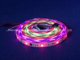 Farbenreicher SMD5050 Streifen des RGB-IP65 Chip-30LEDs 9W DC12V LED