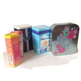 Rectángulos cosméticos impresos aduana barata del estaño de la torta de la Navidad