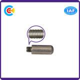 DIN/ANSI/BS/JIS Carbon-Steel/Stainless-Steel 4.8/8.8/10.9 Pin galvanizado tornillo prisionero para la construcción de ferrocarriles