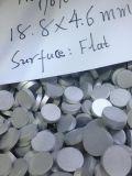 Verdrängter Aluminiumtypenstein 1070 mit Mittelloch-flachen stolpernden runden Aluminiumtypensteinen