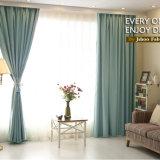 Tela Heat-Insulating contínua de linho da cortina de indicador do escurecimento do estilo moderno (14F0015)