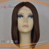 Cor Natural 100% de cabelo humano Seda Sheitel Superior Peruca (PPG-L-0323)