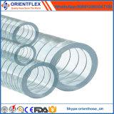 Boyau renforcé tressé de fil d'acier de PVC de catégorie comestible