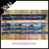 Jacquard de seda tejido corbatas de lazo