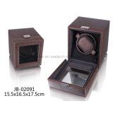 黒い革腕時計の陳列ケースの単一の腕時計の巻取り機