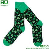Glückliche Gras-Muster-Großverkauf-Mann-Mannschafts-Socken
